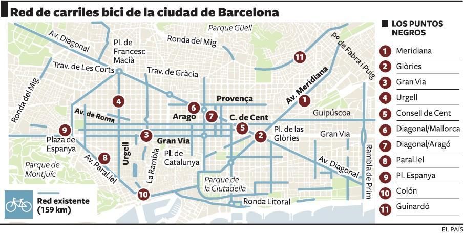 mapa_puntos_negros_carril_bici_barcelona
